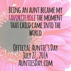 I sure do love being an aunt <3