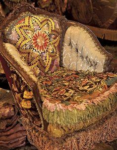 I want to combine vintage pieces into a Victorian Opium Den design.
