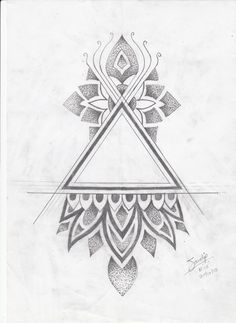 Triangle Tattoo Design by Artist Sandip- Bold Tattoo Studio in Kharghar, Navi Mumbai