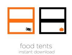 Printable Halloween Food Tents