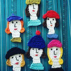 #beanietime ! #winteriscoming #beanie #hat #crocheting #crochet #crochetingisfun #freeformcrochet #ladies #women #bookcover #oldbookcover #bookcoverdesign #crocheterofinstagram #instacrochet #portrait #groupportrait #pipo #virkkaus