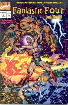 Fantastic Four Unlimited # 6 by Claudio Castellini Marvel Comics Superheroes, Marvel Comic Books, Comic Book Characters, Marvel Characters, Comic Books Art, Comic Art, Fantastic Four Comics, Mister Fantastic, Marvel Universe