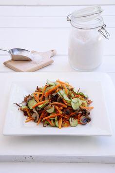 Balsamic Vinegar, Stir Fry, Fries, Salads, Recipes, Food, Essen, Meals, Salad
