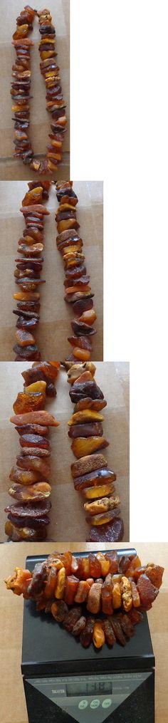 Amber 10191: Antique Huge Natural Raw Butterscotch Baltic Amber Beads Necklace # 13S BUY IT NOW ONLY: $199.99