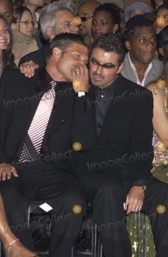 Dave Benett/alpha 048457 08/07/02 George Michael & His Partner Kenny -Versace Couture Collection Fashion Show Held at the Theatre National in the Trocadero in Paris, France. Credit: Dave Benett/alpha/Globe Photos, Inc.