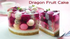 Jelly Cheesecake, Jelly Cake, Cheesecake Recipes, Fruit Recipes, Sweet Recipes, Dessert Recipes, Dragon Fruit Dessert, Fresh Fruit Cake, Birthday Desserts