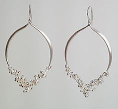 Silhouette Earrings with Granulation Detail