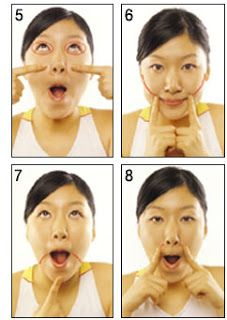Facial exercise massage picture