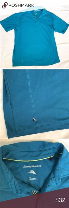 Tommy Bahama Turquoise Polo Tommy Bahama Men's L Polo Shirt Spectator Turquoise Blue Moisture Wicking. Tommy Bahama Shirts Polos