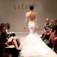 Perfect New York Bridal Fashion Week Show fall new collection wedding dress designer bridal gown catwalk runway train back Pinterest Bridal fashion week