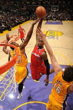 b5218f2a529042 VIDEO  DeAndre Jordan HUGE One-Handed Dunk on Pau Gasol   Andrew Bynum!  Basketball ...