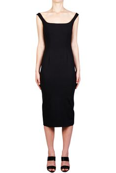 Ponti Scoop Neck Dress - BLACK | NICHOLAS | Green with Envy