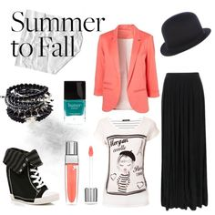 """Summer to Fall: Maxi Skirts"" by outfit-hunter on Polyvore.iluvtheblazer"