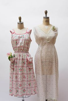 Behind the Seams  |  Seamwork Magazine  a closer look at 2 floral feed sack dresses