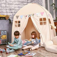 I think I can make this look like hargids hut or a house in Star Wars for the baby's room.  I can buy tent stakes and sew it myself I think.  Maybe for second birthday?