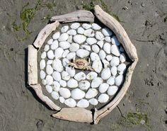 beach graphic 1, by david adams: Shaw Island, WA.