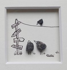 cm Original Libellei Pebble Art - Diane's Home Stone Crafts, Rock Crafts, Diy And Crafts, Sea Glass Crafts, Sea Glass Art, Pebble Painting, Stone Painting, Pebble Pictures, Stone Pictures