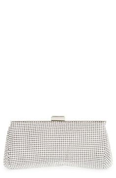 Glint Crystal Mesh Clutch available at Silver Clutch, Beautiful Handbags, Metal Mesh, Clutch Purse, Bridal Accessories, Evening Bags, Louis Vuitton Damier, Vintage Inspired, Pouch