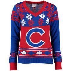 Women's Chicago Bears '47 Brand Navy Drop Needle Sweater