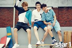 EXO Baekhyun, Chen and Suho - @Star1 Magazine August Issue '15