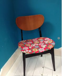 Upcycled Retro Floral Dining Chair