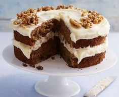 Make a classic carrot cake with this easy recipe, perfect for everyday baking and occasions. Find more cake recipes at BBC Good Food. Carrot Cake Recipe Bbc, Cake Recipes Bbc, Easy Carrot Cake, Bbc Good Food Recipes, Carrot And Walnut Cake, Carrot Cakes, Pastry Recipes, Baking Recipes, Food Cakes