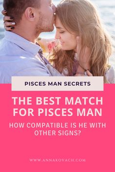 Have you got a bit of a tasty crush on a delicious Pisces man but aren't sure if your zodiac sign aligns with his? What are the signs that work really well for the Pisces man? Keep reading to find out who may be the best match for Pisces man. #zodiac #horoscope #sun #sign #compatibility #compatible #love #relationship #romance #dating #pisces #man #guy #best #match #cancer #woman #scorpio #lady #capricorn #taurus #aquarius #sagittarius #girl Sagittarius Girl, Scorpio, Aquarius, Love Compatibility, Sun Sign, Zodiac Horoscope, How To Find Out, Cancer, Dating