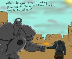 Dark Souls   Iron Golem & Black Iron Tarkus