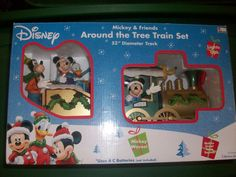 Christmas Mickey and friends train set