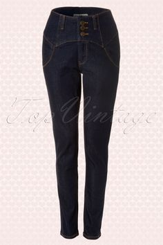 Collectif Clothing 50s Rebel Kate High Waist Denim pants