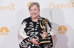 Actress Kathy Bates , winner of the Outstanding Supporting Actress in a Miniseries or Movie Award for American Horror Story: Coven, poses in the press room during the 66th Annual Primetime Emmy Awards held at Nokia Theatre L.A. Live on August 25, 2014 in Los Angeles, California Double Mastectomy