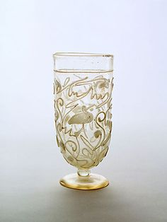 Snake-thread Goblet   Glass   H: 14.56 cm   Allegedly from Alexandria   Alexandrian   Late 2nd century A.D.
