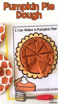 Pumpkin Pie Play Dough Fractions Free Printable - Fantastic Fun & Learning