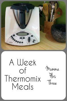 A week of Thermomix meals | recipe links | Mumma Plus Three