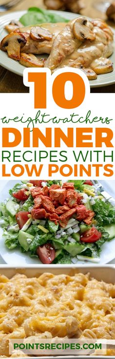 TOP 10 DELICIOUS WEIGHT WATCHERS DINNERS WITH LOW SMARTPOINTS