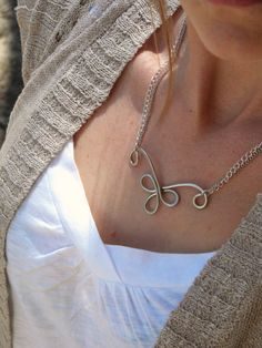 Silver Necklace Chain Necklace Delicate Silver by ElizabellaDesign, $22.00
