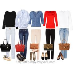 Fashion Tips for Women - fiftynotfrumpy.blogspot.com - i need this just to simplify planning for the work week ahead