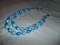 Two Strand Choker With Baby Blue Swarovski by GrammyKayesCreations