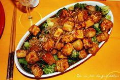 ¡Con un par de guindillas!: Tofu en salsa con brócoli