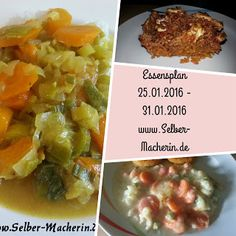 Selber-Macherin: Essensplan 25.01.2016 - 31.01.2016, inklusive vegetarischer Alternativen  Hallo ihr!  Heute habe ich wieder einen Essensplan für die kommende Woche für euch. Schaut mal rein, vielleicht ist ja etwas schönes für euch dabei.  Ich wünsche euch noch ein schönes Restwochenende!  #Essensplan #kochen #vegetarisch #Rezepte