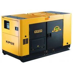 Silent and long running diesel generator from Kipor.