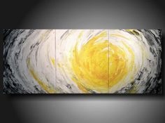 Art original Abstract painting 20 inches X 48 inches  ----Textured---3 pc  Huge Jmjartstudio