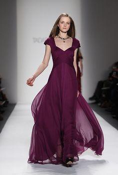Brides.com: . Gown by Tadashi Shoji