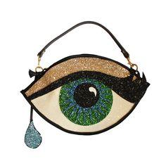 Grün Glitter Eye Clutch Handtasche mit Teardrop von LunaontheMoon