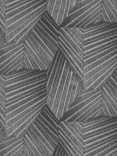 Detailed shimmering silver bands in geometric forms enhance the flowing wave patterns in the beautiful black colourway of this Elle Decoration wallpaper. Make an impact in your interior design and add some glamour. This high quality wallpaper has a textured finish, which is great for covering minor imperfections, and could be used to create a striking feature wall or to decorate an entire room. This high quality wallpaper benefits from being a paste the wall paper. Geometric Form, Geometric Designs, Silver Bands, Interior Styling, Interior Design, Pattern Matching, Adhesive Wallpaper, Geometric Wallpaper, High Quality Wallpapers