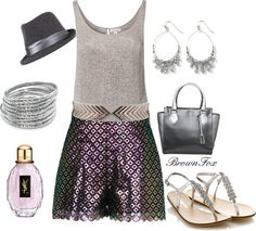 """""""Purple & Silver"""" by brownfox1 on Polyvore"""