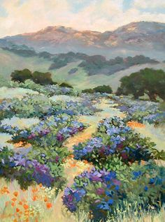 Ellie Freudenstein, Impressionist, Santa Barbara landscapes, Poppies, Floral, California Landscapes, Waterhouse Gallery, Santa Barbara Art Dealers Association, Santa Barbara Art Galleries, Women Artists of the West. California Art Club.