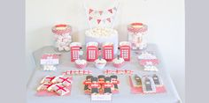 Le Candy Bar | Kit Anniversaire Décoration Sweet table: Printables Thème London