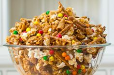 Nut Free Crunchy Sweet and Salty Party Mix Recipe - California Unpublished Trail Mix Recipes, Fall Recipes, Nut Recipes, Recipies, Dinner Recipes, Halloween Trail Mix Recipe, Party Mix Recipe, Nut Free Snacks, Navidad
