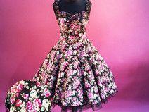 Petticoatkleid  50er Jahre Mode Kleid